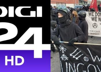 Digi24, dezinformare uluitoare: protestatari violenți de extremă stânga, prezentați drept susținători ai lui Donald Trump