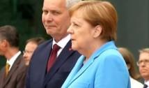 VIDEO A treia criză de tremurături a Angelei Merkel în mai puțin de o lună. Cancelarul Germaniei se afla la o întâlnire cu premierul finlandez