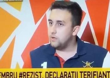 INTOXICARE marca Antena 3. Protestatarul fake #Rezist BĂTĂUȘ, inventat în laboratoarele securiste voiculesciene