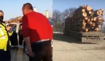 """VIDEO Polițista care a deranjat mafia lemnului, amenințată că se poate recurge la """"fel și fel de variante"""" contra ei. Întrucât a îndrăznit să-și facă datoria, agentul de poliție a fost supus unei anchete interne"""