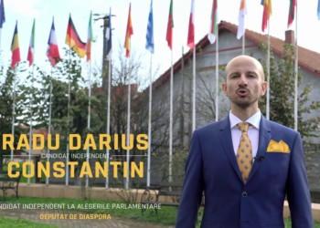 """Portret de candidat. Darius Radu Constantin, candidat independent pentru Camera Deputaţilor, Diaspora: """"Programul meu este cel al diasporenilor nemulțumiți"""""""