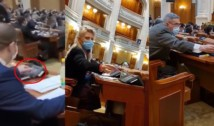 VIDEO. AUR și PSD, aceeași mizerie. Prins votând la două mâini, un parlamentar AUR-ist a acuzat USR de fraudarea votului de la alegerile locale din Sectorul 1