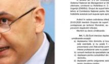 """Sesizare la DIICOT: scurgere de informații în cazul documentului privind restricțiile de circulație, care NU a fost adoptat. Mesajul autorităților: """"E vorba despre propuneri aferente unor scenarii posibile cu privire la răspândirea noului coronavirus!"""""""
