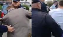 FOTO DOCUMENT Plângere penală împotriva șefului dispozitivului de jandarmi care a acționat abuziv la Topoloveni față de un grup de protestatari pașnici