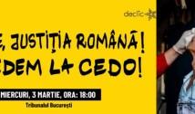 """""""Mergem mai departe pentru DREPTATE!"""" Victimele violențelor din 10 august anunță că își vor căuta dreptatea la CEDO. Protest la Tribunalul București"""