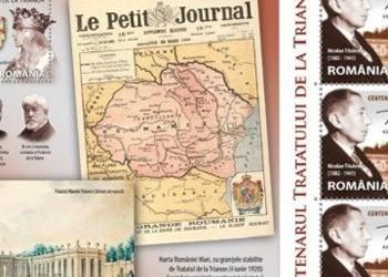 """TIMBRE """"periculoase""""! Un act de cenzură brutală vizează memoria istorică a românilor: Romfilatelia renunță să pună în circulație emisiunea de timbre dedicată împlinirii a 100 de ani de la Tratatul de la Trianon. Cine sunt cei care se rușinează cu istoria românilor?"""