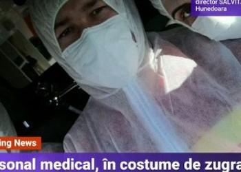 Personalul medical, pus în pericol în lupta cu COVID-19: costume de zugrav achiziționate din cauza lipsei de dotări
