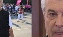 """VIDEO Tăriceanu, întâmpinat cu cătușe la PG de către revoluționarul Marian Ceaușescu: """"Ați venit să le probați?"""""""