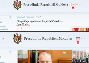 REPUBLICA MOLDOVA Limba română, repusă în drepturi pe site-ul Președinției. S-a întâmplat asta la câteva ore după ce Maia Sandu și-a preluat oficial mandatul