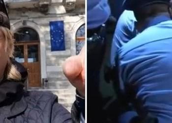 VIDEO Marian Ceaușescu, agresat de polițiști în fața sediului PSD și dus la secție. Protestatarul a fost abuzat când întreba niște pesediști ce au făcut pentru România