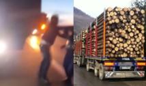 VIDEO Mafia lemnului atacă într-un mod criminal: un activist de mediu, cât pe ce să fie împins în fața unui camion care trecea cu viteză. Diaspora Europeană transmite un memoriu principalilor exponenți de la nivel politic