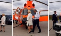 Revoltător! Agramata Dăncilă își bate joc de români: și-a închiriat elicopter electoral cu BANI PUBLICI. Sfidarea PSD