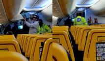La Cluj, un bărbat a fost coborât de poliție din avionul de Londra pentru că a refuzat cu înverșunare să poarte masca sanitară. Pasagerii au aplaudat gestul forțelor de ordine