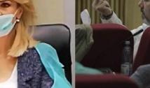 """Show grotesc la PMB: Bădulescu a mitraliat cu gesturi obscene și i-a spus Anei Ciceală că e """"criminală"""". Primărița pesedistă și-a pus masca greșit pe moacă"""