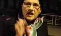 """VIDEO Gropara educației Abramburica, luată prin surprindere de un protestatar. Confruntată cu întrebări incomode, s-a pierdut cu firea: """"Sunteți un mizerabil şi spuneţi numai minciuni!"""""""