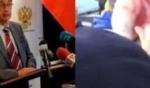 FOTO Sinistrul Gelu Voican și-a făcut apariția la conferința anuală a Ambasadei Rusiei. Inculpatul pentru crime împotriva umanității, căsătorit cu o trompetă a Kremlinului