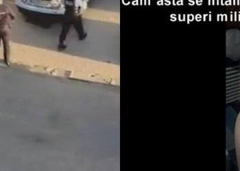 VIDEO O persoană cu dizabilități, abuzată de Poliția Locală. Bărbatul, săltat de polițiști în stil milițienesc din pricina unui mesaj mai dur afișat pe balcon