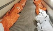 """Imagine șoc din SUA, New York. Morții sunt cărați cu camioane frigorifice. Asistent medical: """"Este realitatea cruntă cu care ne confruntăm și în care unii dintre noi și-au găsit deja sfârșitul"""""""